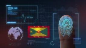 Système d'identification de balayage biométrique d'empreinte digitale Nationalité du Grenada photographie stock