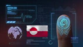 Système d'identification de balayage biométrique d'empreinte digitale Nationalité du Groenland illustration stock