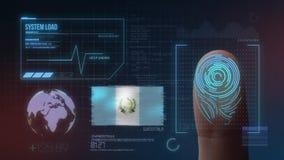 Système d'identification de balayage biométrique d'empreinte digitale Nationalité du Guatemala illustration de vecteur