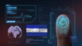 Système d'identification de balayage biométrique d'empreinte digitale Nationalité du Honduras illustration stock