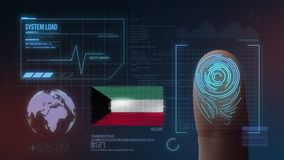 Système d'identification de balayage biométrique d'empreinte digitale Nationalité du Kowéit