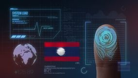 Système d'identification de balayage biométrique d'empreinte digitale Nationalité du Laos