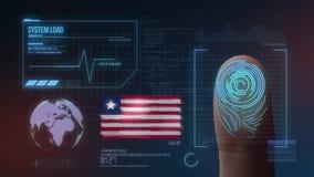 Système d'identification de balayage biométrique d'empreinte digitale Nationalité du Libéria