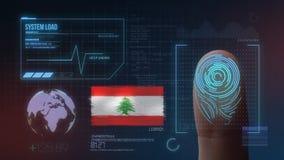 Système d'identification de balayage biométrique d'empreinte digitale Nationalité du Liban