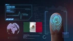 Système d'identification de balayage biométrique d'empreinte digitale Nationalité du Mexique