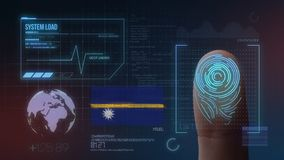 Système d'identification de balayage biométrique d'empreinte digitale Nationalité du Nauru