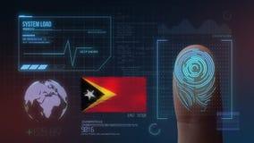 Système d'identification de balayage biométrique d'empreinte digitale Nationalité du Timor oriental illustration libre de droits
