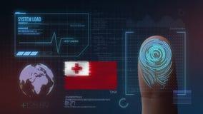 Système d'identification de balayage biométrique d'empreinte digitale Nationalité du Tonga photos libres de droits