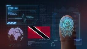 Système d'identification de balayage biométrique d'empreinte digitale Nationalité du Trinidad-et-Tobago photos libres de droits
