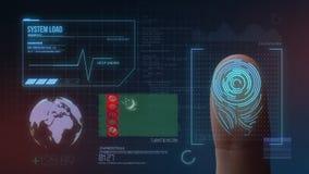 Système d'identification de balayage biométrique d'empreinte digitale Nationalité du Turkménistan photos stock