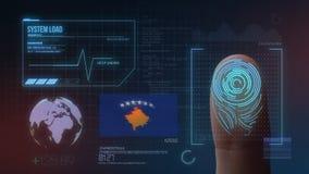 Système d'identification de balayage biométrique d'empreinte digitale Nationalité de Kosovo