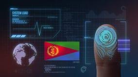 Système d'identification de balayage biométrique d'empreinte digitale Nationalité de l'Érythrée image libre de droits