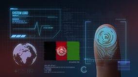 Système d'identification de balayage biométrique d'empreinte digitale Nationalité de l'Afghanistan illustration de vecteur