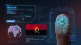 Système d'identification de balayage biométrique d'empreinte digitale Nationalité de l'Angola illustration stock