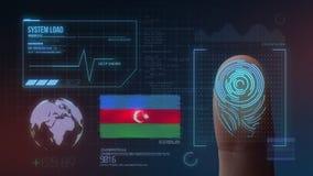 Système d'identification de balayage biométrique d'empreinte digitale Nationalité de l'Azerbaïdjan illustration de vecteur