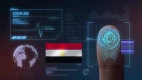 Système d'identification de balayage biométrique d'empreinte digitale Nationalité de l'Egypte illustration libre de droits