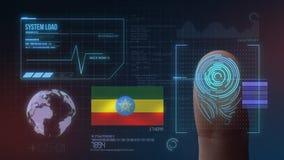 Système d'identification de balayage biométrique d'empreinte digitale Nationalité de l'Ethiopie illustration stock