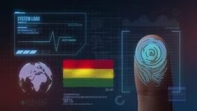 Système d'identification de balayage biométrique d'empreinte digitale Nationalité de la Bolivie illustration stock