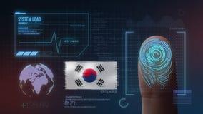 Système d'identification de balayage biométrique d'empreinte digitale Nationalité de la Corée du Sud