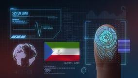 Système d'identification de balayage biométrique d'empreinte digitale Nationalité de la Guinée équatoriale illustration stock