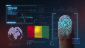 Système d'identification de balayage biométrique d'empreinte digitale Nationalité de la Guinée illustration stock