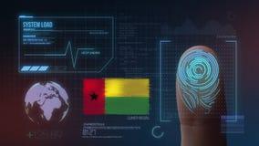 Système d'identification de balayage biométrique d'empreinte digitale Nationalité de la Guinée-Bissau illustration de vecteur