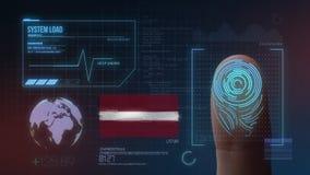 Système d'identification de balayage biométrique d'empreinte digitale Nationalité de la Lettonie