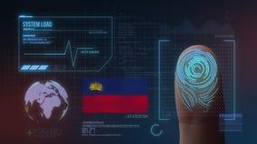Système d'identification de balayage biométrique d'empreinte digitale Nationalité de la Liechtenstein