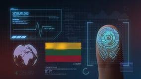 Système d'identification de balayage biométrique d'empreinte digitale Nationalité de la Lithuanie