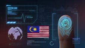 Système d'identification de balayage biométrique d'empreinte digitale Nationalité de la Malaisie