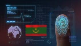 Système d'identification de balayage biométrique d'empreinte digitale Nationalité de la Mauritanie