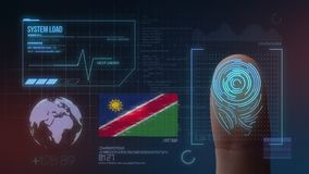 Système d'identification de balayage biométrique d'empreinte digitale Nationalité de la Namibie images stock