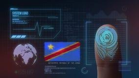 Système d'identification de balayage biométrique d'empreinte digitale Nationalité de la République démocratique du Congo photo stock