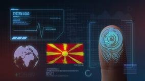 Système d'identification de balayage biométrique d'empreinte digitale Nationalité de la république de Macédoine