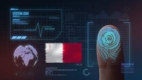 Système d'identification de balayage biométrique d'empreinte digitale Nationalité de Malte
