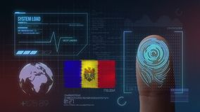 Système d'identification de balayage biométrique d'empreinte digitale Nationalité de Moldau