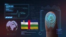 Système d'identification de balayage biométrique d'empreinte digitale Nationalité de République Centrafricaine illustration de vecteur
