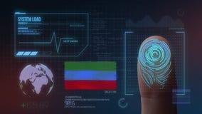 Système d'identification de balayage biométrique d'empreinte digitale République de nationalité de Dagestan illustration de vecteur