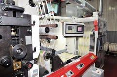 Système d'impression : Impression UV de presse de flexo images libres de droits