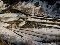 Système d'irrigation en hiver Photos libres de droits