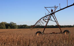 Système d'irrigation sur la zone Photos stock