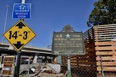 Système d'un état à un autre San Francisco d'Eisenhower de route commémorative d'étoile bleue images stock