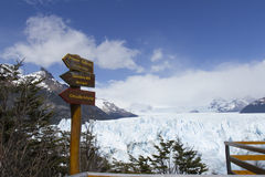 Système de balcon chez Perito Moreno Glacier, ressortissant de visibilité directe Glaciares photos libres de droits