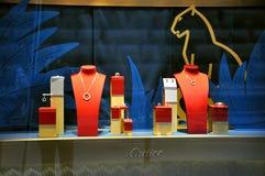 Système de bijou de Cartier en Italie   Images stock