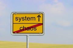 Système de chaos de signe image stock