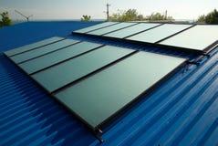 Système de chauffage solaire de l'eau Photo libre de droits