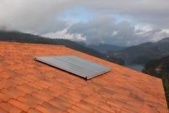 Système de chauffage solaire de l'eau Images stock