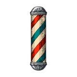 Système de coiffeur classique Pôle illustration libre de droits
