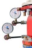 Système de contrôle d'arroseuse d'incendie Images libres de droits