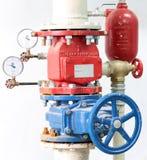 Système de contrôle d'arroseuse d'incendie Image libre de droits